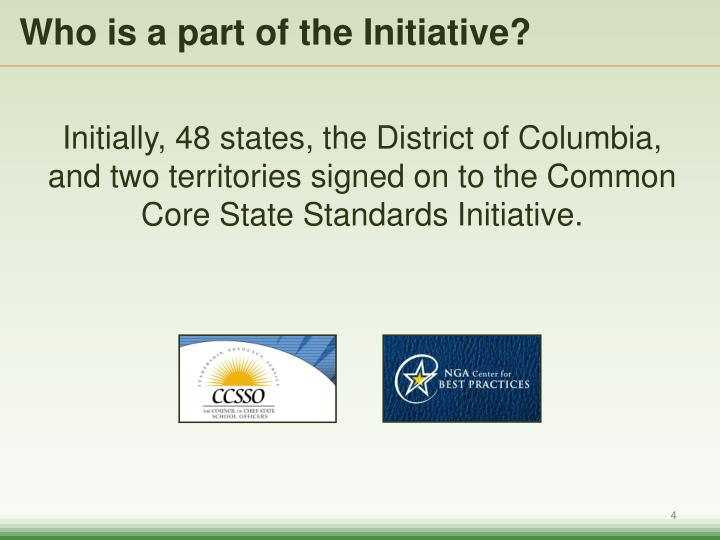 Who is a part of the Initiative?
