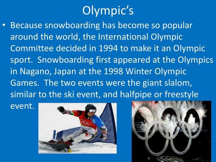 Olympic's