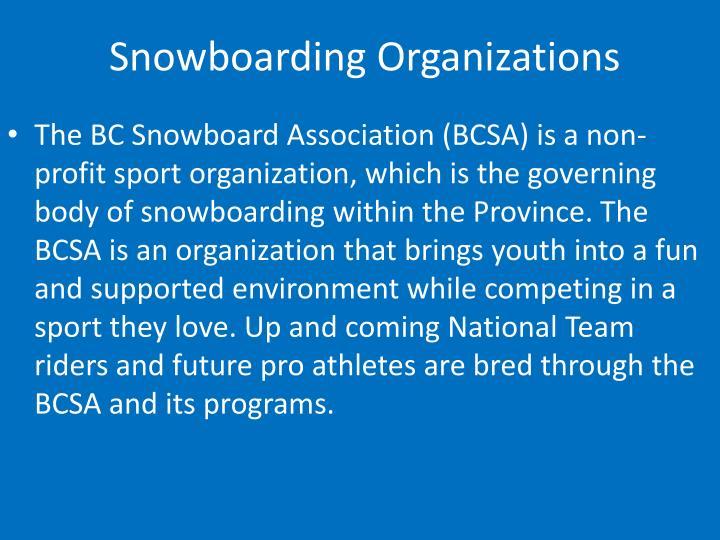 Snowboarding Organizations