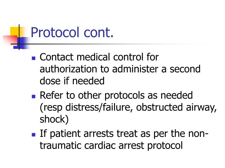 Protocol cont.