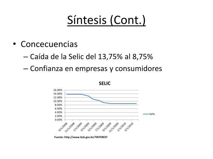 Síntesis (Cont.)