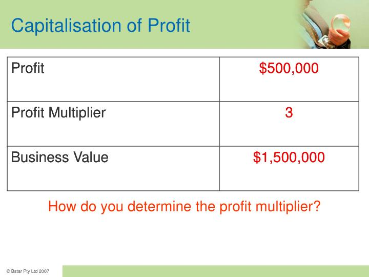 Capitalisation of Profit