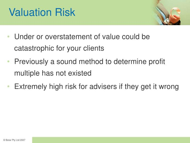 Valuation Risk