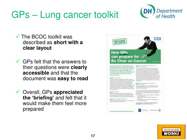 GPs – Lung cancer toolkit