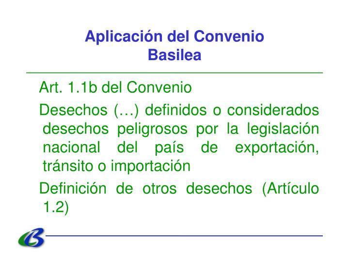 Aplicación del Convenio