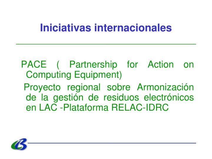 Iniciativas internacionales