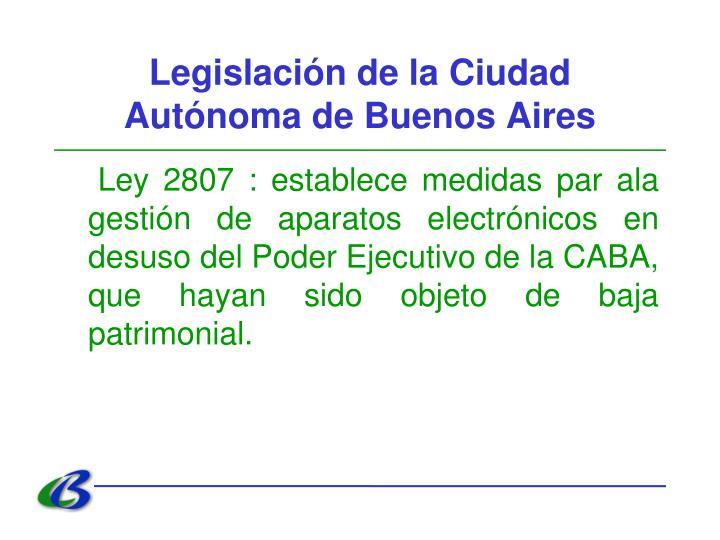 Legislación de la Ciudad Autónoma de Buenos Aires