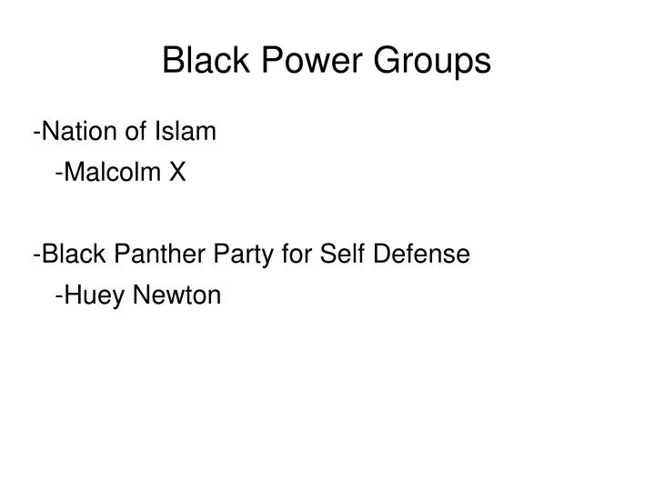 Black Power Groups