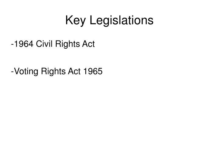 Key Legislations