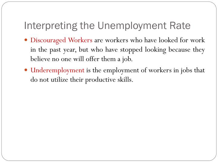 Interpreting the Unemployment Rate