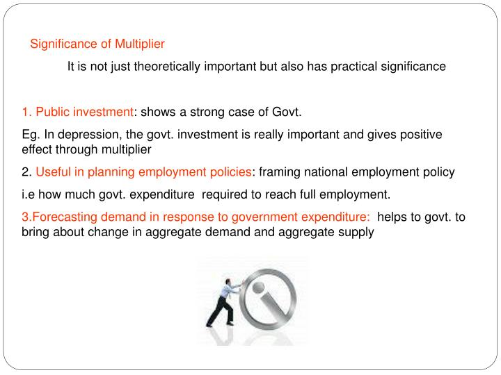 Significance of Multiplier