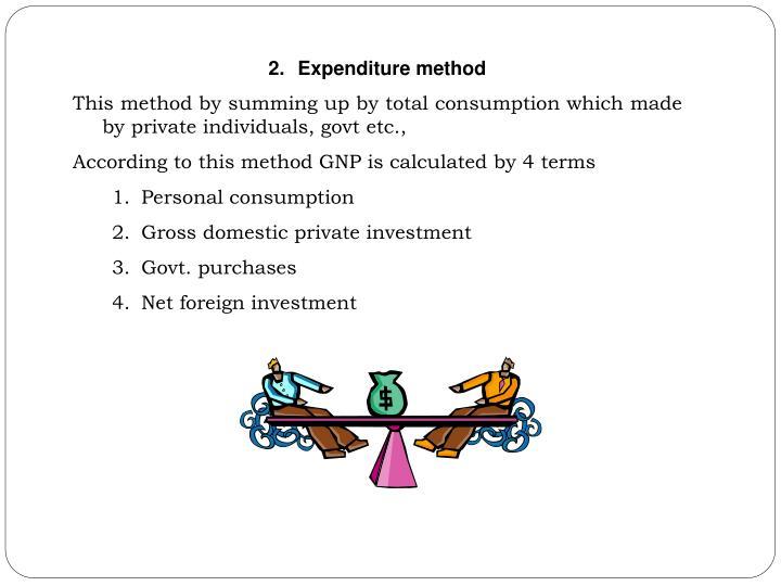 Expenditure method