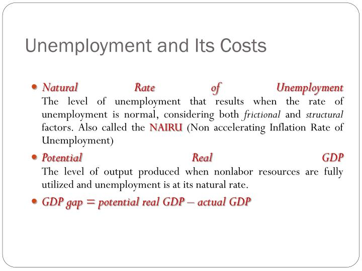 Unemployment and Its Costs