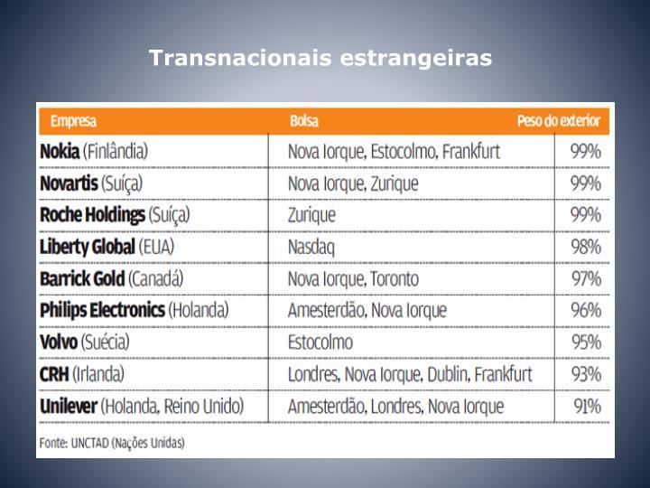 Transnacionais estrangeiras