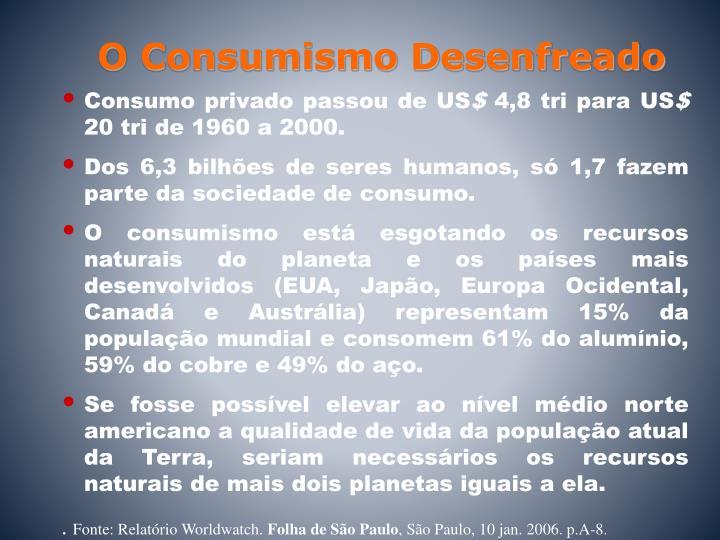 O Consumismo Desenfreado