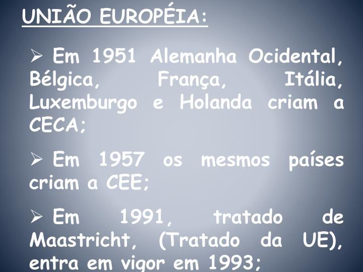 UNIÃO EUROPÉIA: