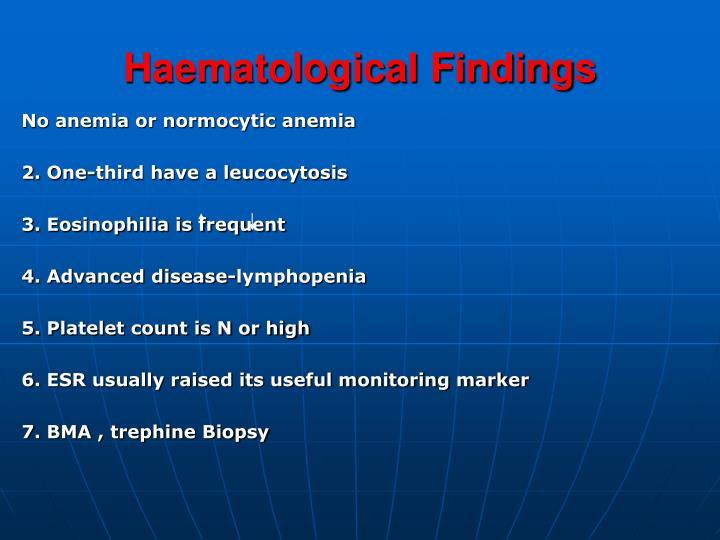 Haematological Findings