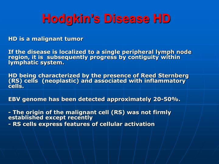 Hodgkin's Disease HD