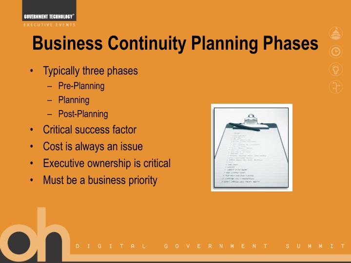 Business Continuity Planning Phases