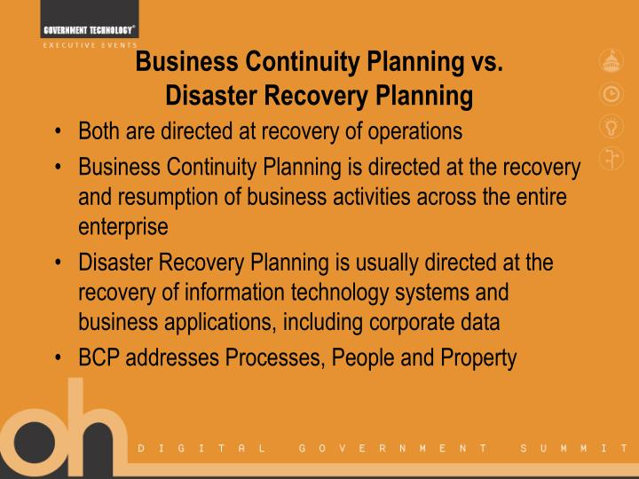 Business Continuity Planning vs.