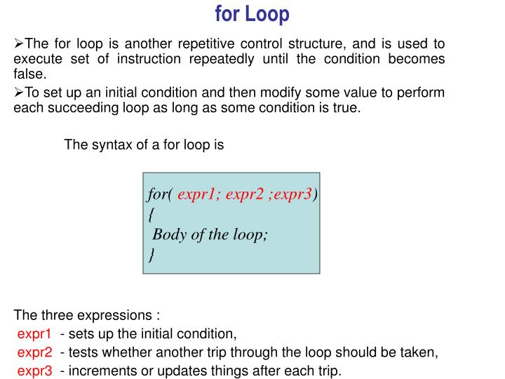 for Loop