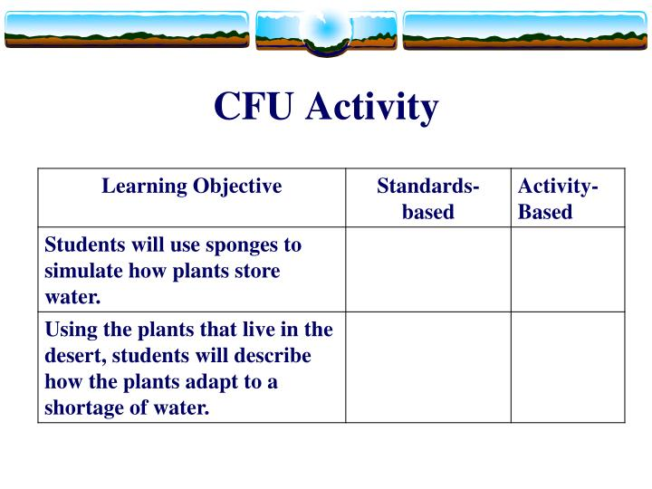 CFU Activity