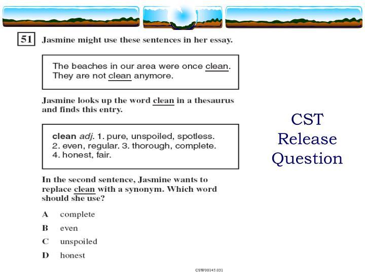 CST Release Question