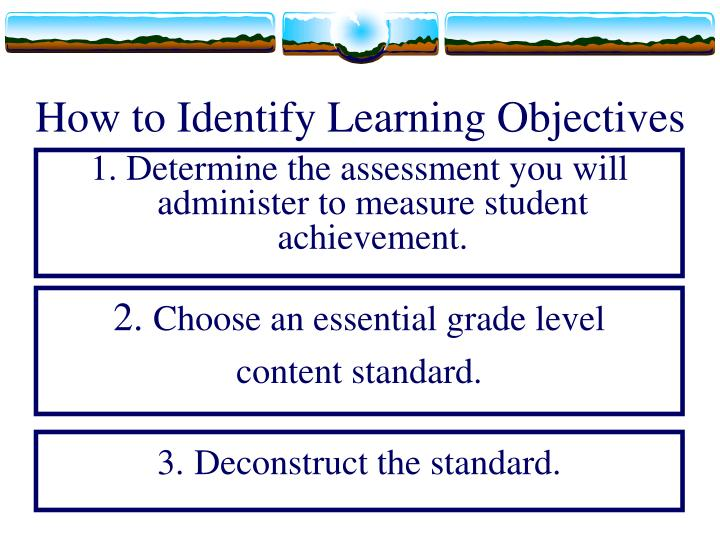 How to Identify Learning Objectives