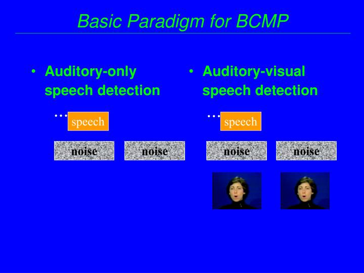 Auditory-only speech detection
