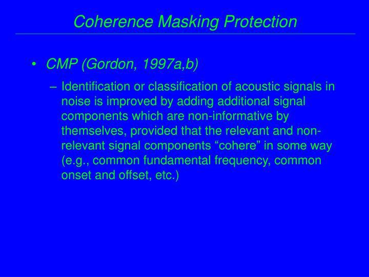 CMP (Gordon, 1997a,b)