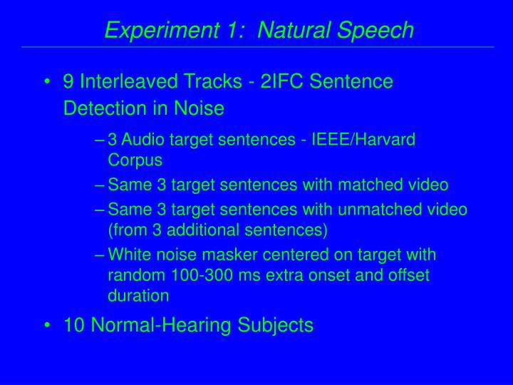 9 Interleaved Tracks - 2IFC Sentence Detection in Noise