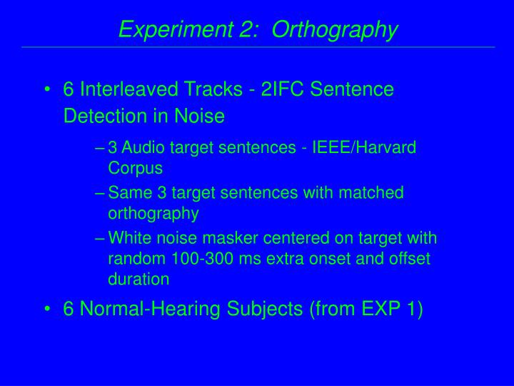 6 Interleaved Tracks - 2IFC Sentence Detection in Noise