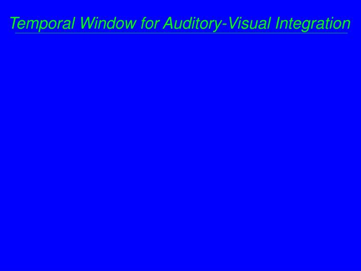 Temporal Window for Auditory-Visual Integration