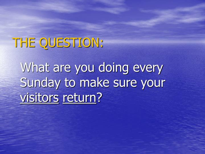 THE QUESTION: