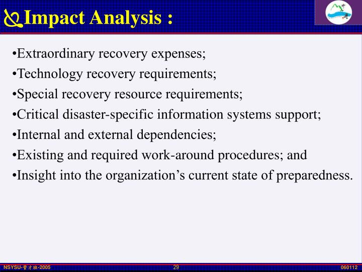 Impact Analysis :