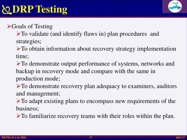 DRP Testing