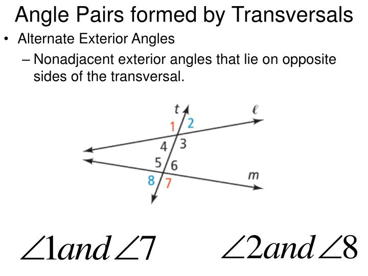 Angle Pairs formed by Transversals