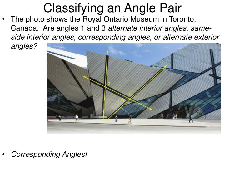 Classifying an Angle Pair