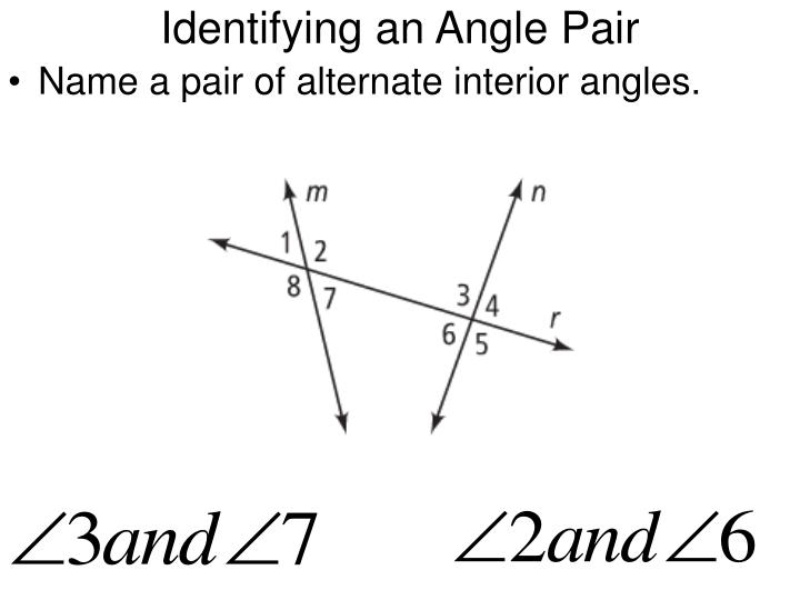 Identifying an Angle Pair