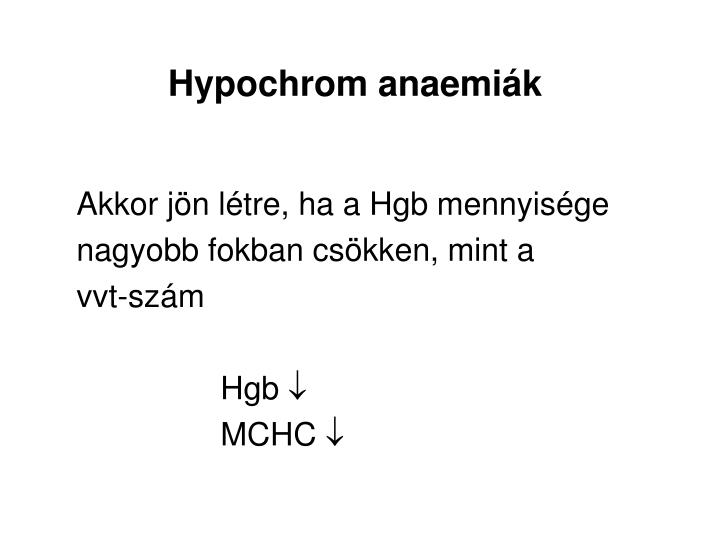 Hypochrom anaemiák