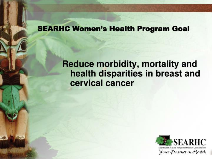 SEARHC Women's Health Program Goal
