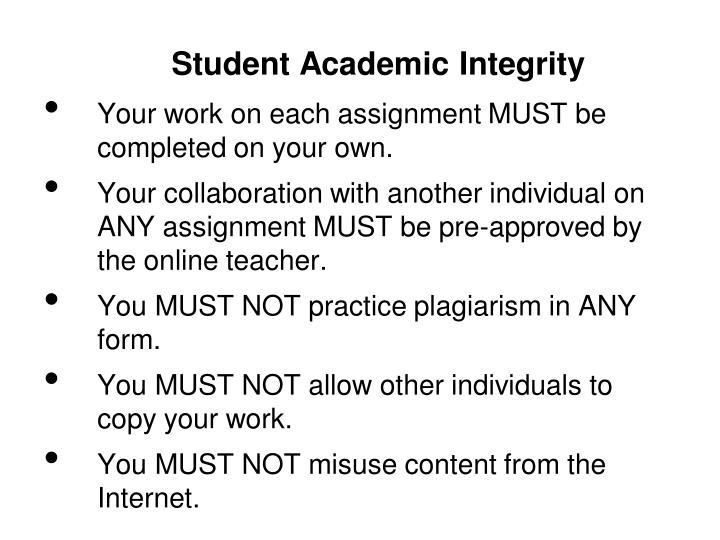 Student Academic Integrity