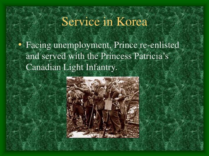 Service in Korea