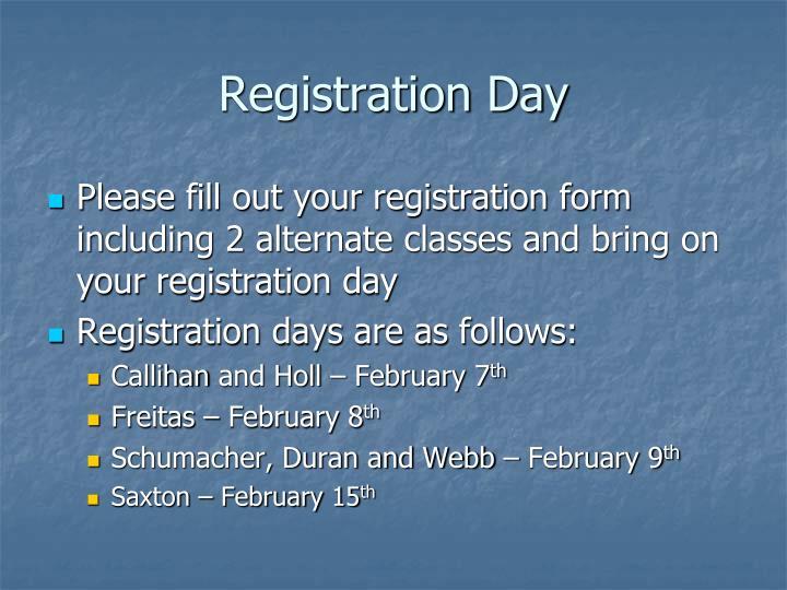 Registration Day