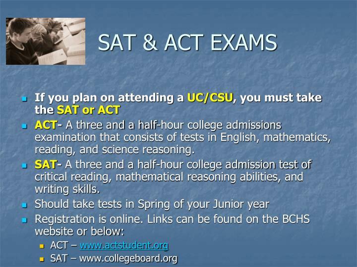 SAT & ACT EXAMS