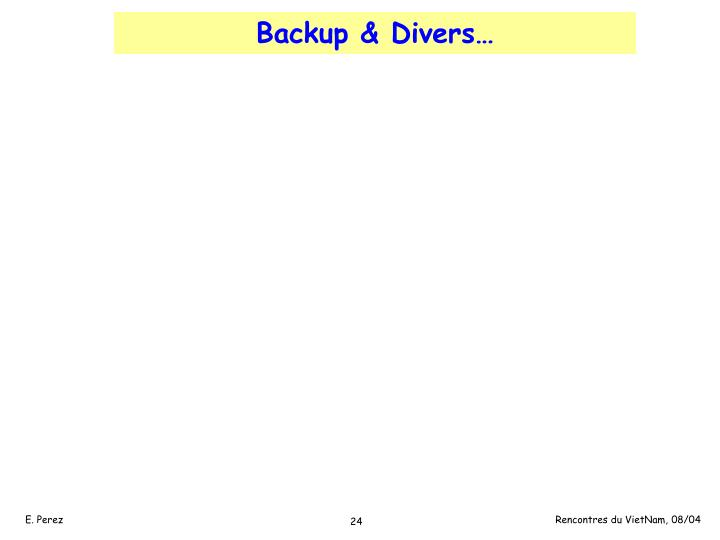 Backup & Divers…