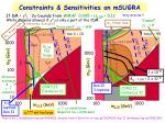 constraints sensitivities on msugra