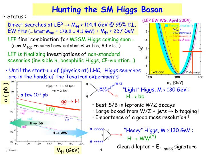 Hunting the SM Higgs Boson