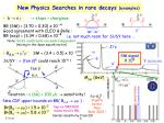 new physics searches in rare decays examples