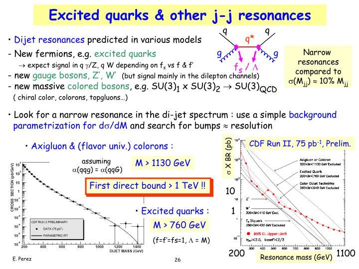 Excited quarks & other j-j resonances